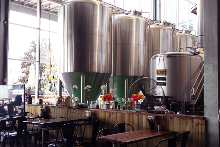 Tanks at the Rocks Brewery in Alexandria